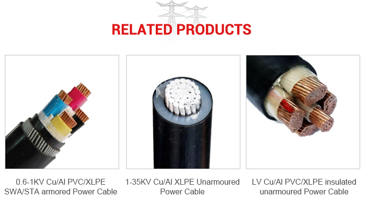 Huadong cable  3 core 35mm aluminum 8mm  power cable