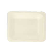 8pcs/bag 4.7inch Small Wooden Rectangle <strong>Plates</strong> Dinner Biodegradable Disposable Party Trays Eco-friendly Tableware