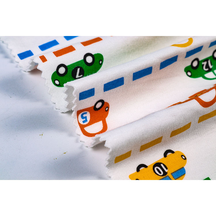 Custom  Cartoon  Printing Plain Knitted Fabrics  For Clothing