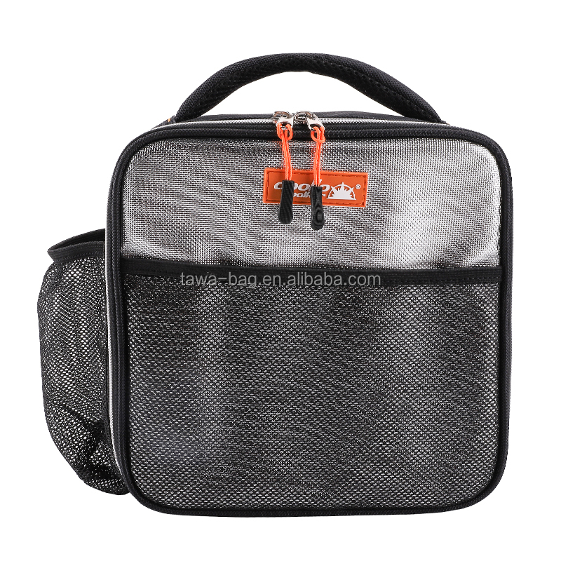 Ice bag cooler with net bag