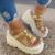 Women's sandals new summer 2020 fashion thick bottom high heels women's open toe round head sandals