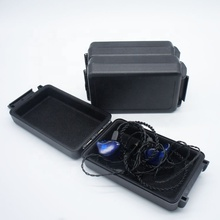 Best quality in ear monitor earphone storage <strong>plastic</strong> hard <strong>case</strong>, black color <strong>plastic</strong> <strong>case</strong> for packing earphone