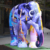 Life Size Fiberglass Color Art Elephant Sculptures