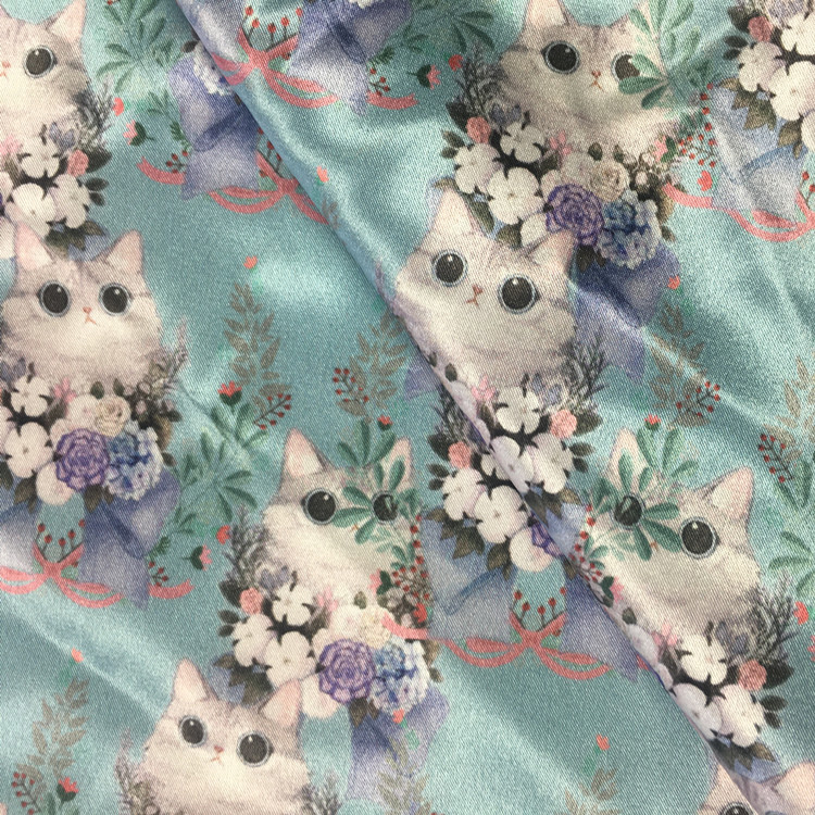 silky new style  floral printed 100% polyester charmeuse satin silk  fabric for dress