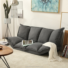 Factory <strong>Furniture</strong> Metal living room folding sofa cum bed portable lazy sofas