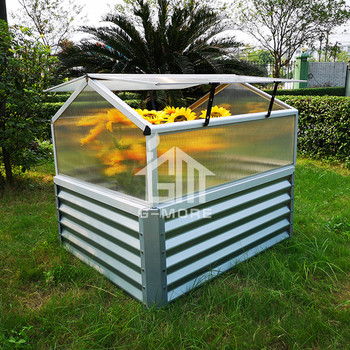 Wholesale vegetable flower gardening metal raised bed with cold frame greenhouse