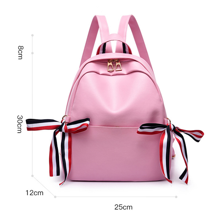 Wholesale Fashion Dropshipping Lightweight Custom Black PU Leather Teenager School Bag Ladies Backpacks