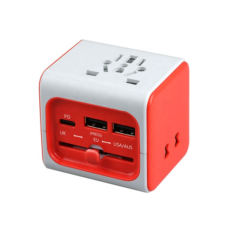 Business gift charger converter Plug Travel ac power electrical wall socket adaptor travel adapter