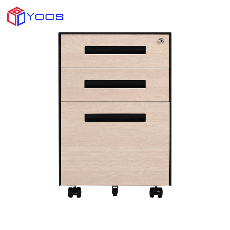 Luoyang factory office equipment A4 file cabinet 3 drawer movable pedestal filing cabinet