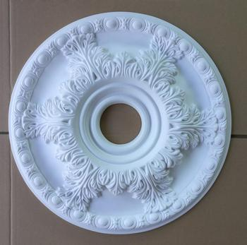 Home decor PU Decorative Ceiling Medallion as a lamp base