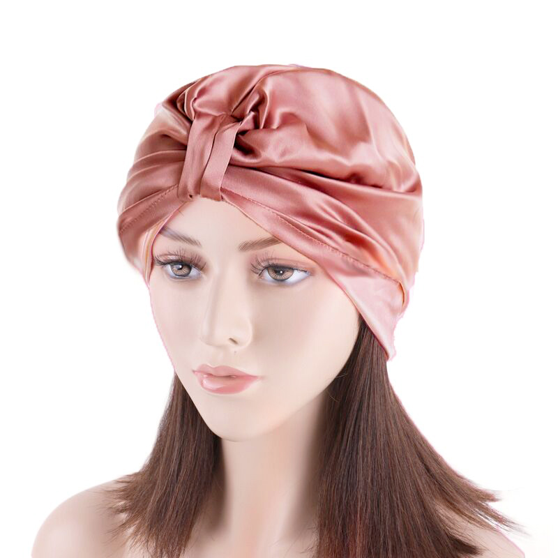Custom Mulberry Silk Satin Bonnet <strong>Caps</strong> Soft Silk Sleeping Night <strong>Cap</strong> for Women SPA Hair