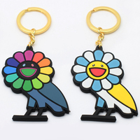 Wholesale Cheap Custom 3D Silicon Rubber Emoji Soft Pvc Metal Keychain