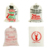 christmas natural Linen gift bag santa Claus gift bags sack