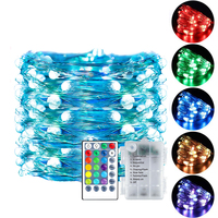 Outdoor Lights Color Changing Light Remote Decorative Waterproof Rgb String Lamp Copper Wire Led