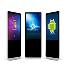 65 75inch intel software outdoor floor stand up indoor lcd touch screen digital board player led display screens for <strong>advertising</strong>