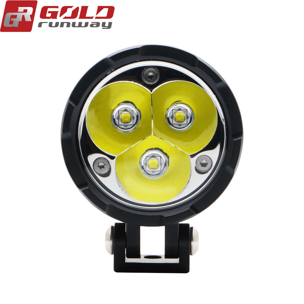 Custom round LED motorcycle headlight with bracket