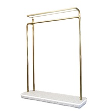 Clothes Boutique furniture Apparel <strong>Shelf</strong> Against Wall Metal Clothing Store Display Racks with LED Light