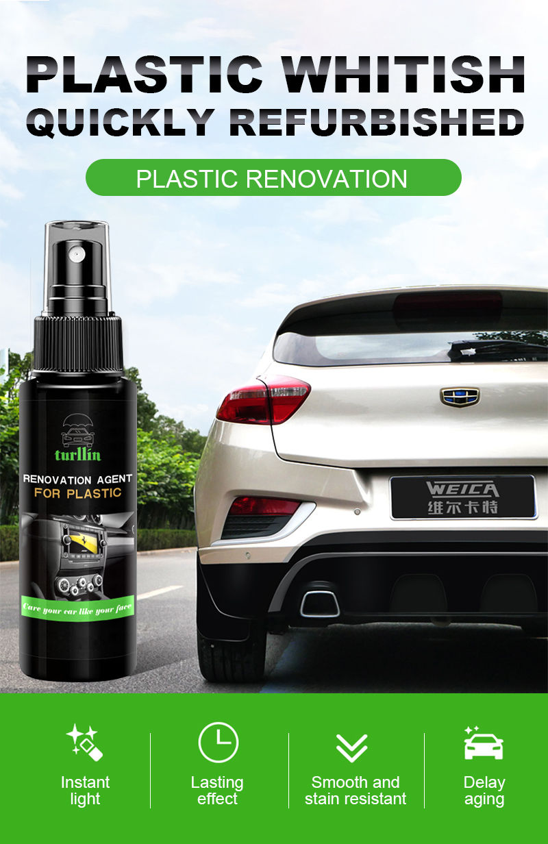 Car Cockpit Care 300 ml Spray Bottles dashboard cleaner and refresh for interior plastic parts ready to use
