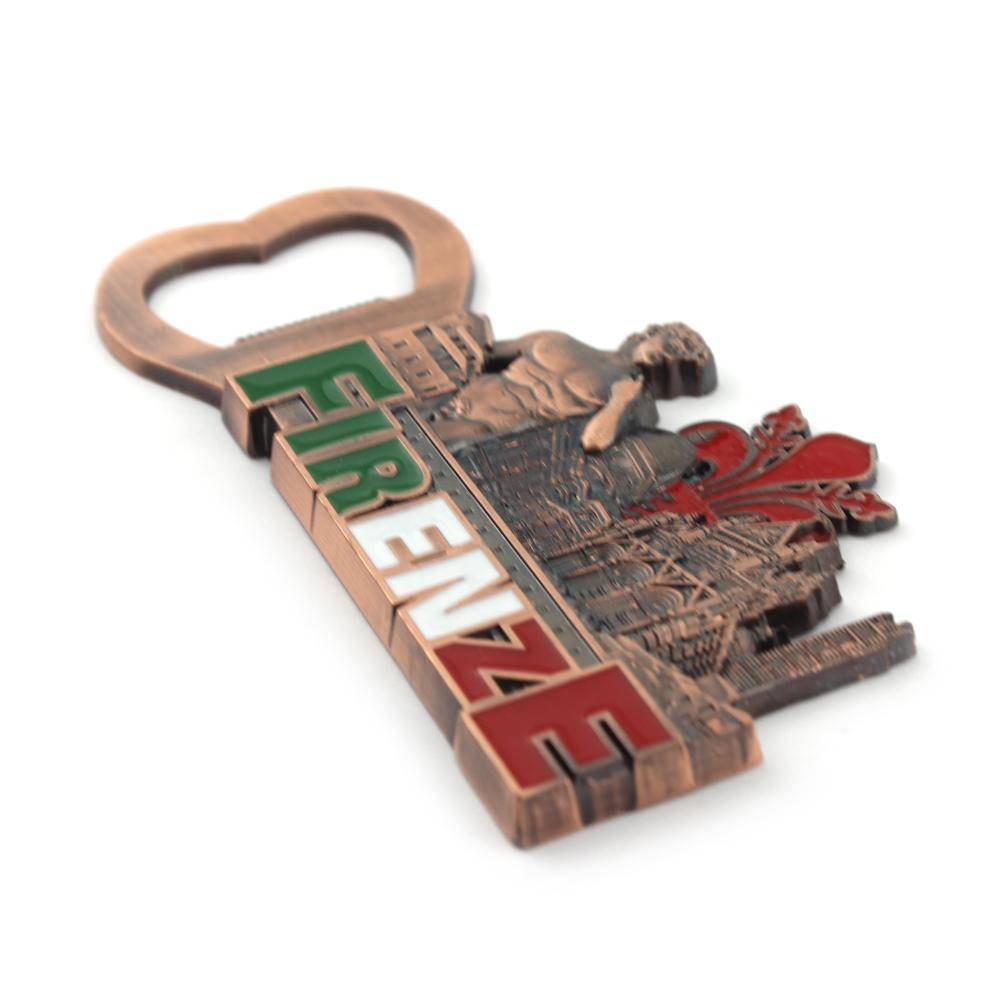 Souvenir Custom bottle shaped wine Beer opener Metal custom souvenir keychain bottle opener