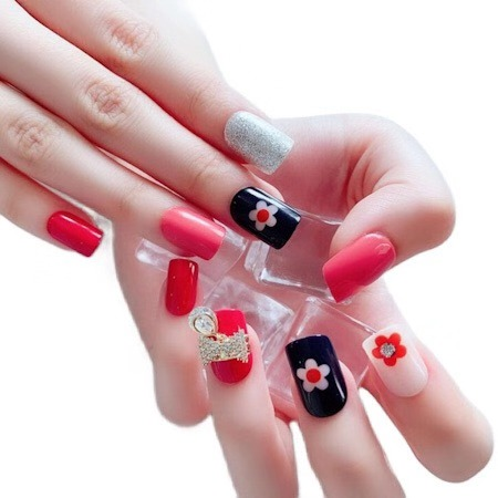 Wear korea false nail tips art Finished Piece Detachable Artificial Nails 24 Pieces Nail Patch