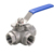 stainless steel 3 way ball valve flange hydraulic ball valve