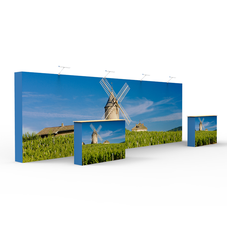 Trade show Straight tension fabric stand event backdrop 20 feet popup <strong>display</strong>