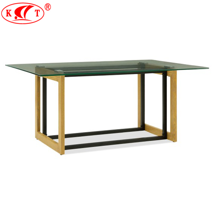 Contemporary <strong>Living</strong> Room Furniture Modern Cheap Glass Coffee Table/Tea Table with Wooden Metal Legs