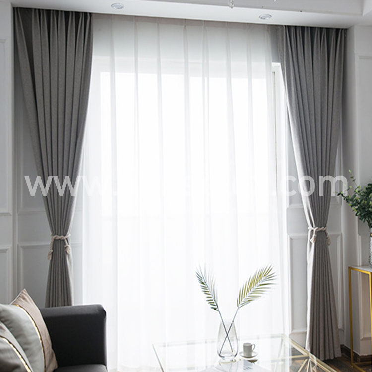 3.3.1 Multicolor <strong>Cotton</strong> And Linen Blackout Curtains Comfortable Touch Grommet Curtain For Window Decoration And Private Protect