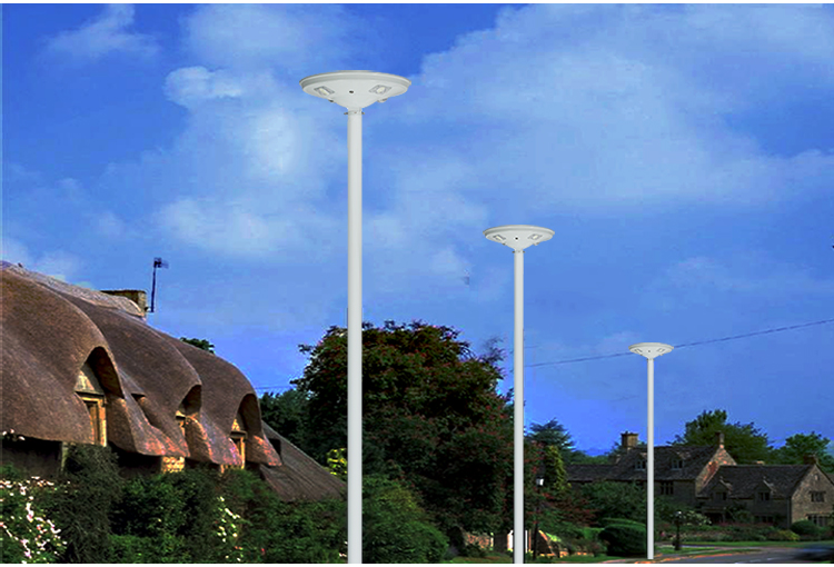 led outdoor waterproof motion sensor ufo solar garden light