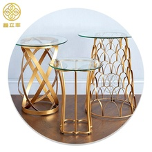 Guangdong Xinlifeng Factory Glass Side Coffee <strong>Table</strong> For Living Room