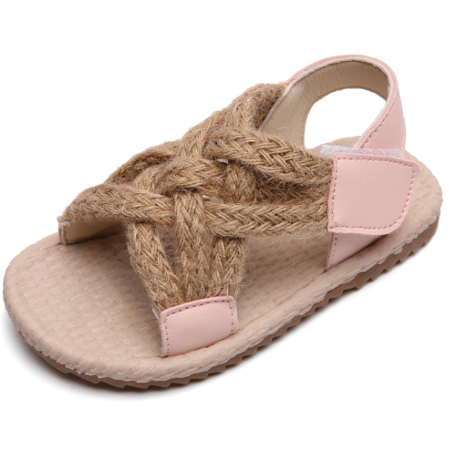 KS3038  Hot sell quality kids sandals unisex strap design kids rope sandals