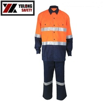 Industrial <strong>Safety</strong> Anti Flame Men's 2 Pieces Overalls