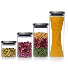 Wholesale Low Price Creative Contracted Food Safe <strong>Glass</strong> <strong>Jar</strong> With Metal Lid