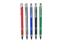 TMP1069-6 promotion slim aluminium ball pen with touch stylus