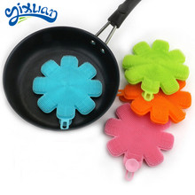High quality household cleaning bowl washing sponge flower shape silicone sponge kitchen cleaning dish <strong>brush</strong>
