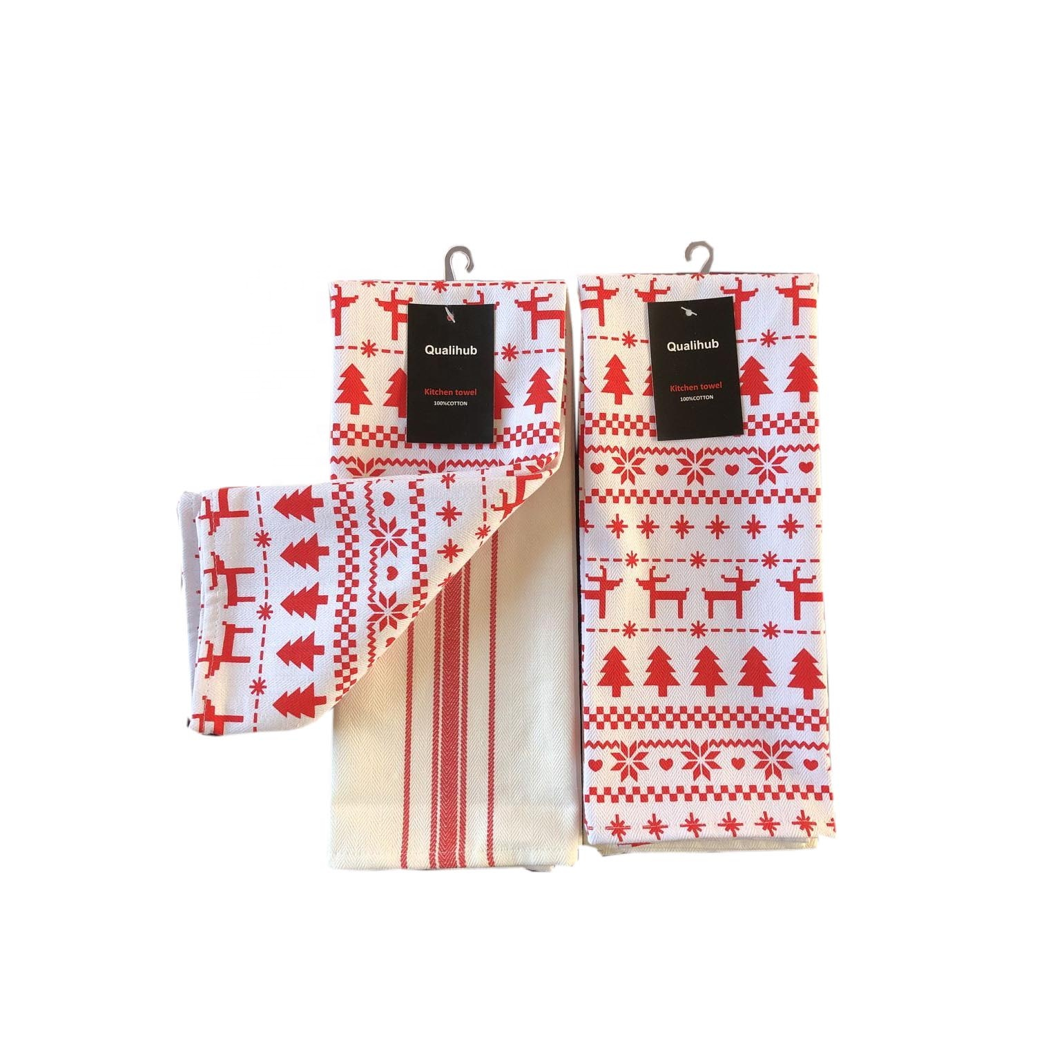 2020 new christmas design printed kitchen towel