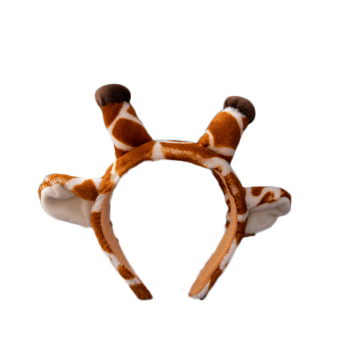 Zoo Gift Cheap Small Souvenir Wild Animal Ears Shaped Headband Giraffe Tiger Leopard Hair Clasp