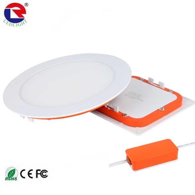 New arrival Epistar SMD2835 super slim flat panel 6w 12w 18w 24w round led ceiling light