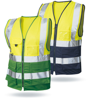 100% Polyester En471 Traffic Products Security Guard Uniform Reflective Safety Vest With PVC card pocket