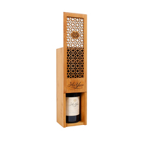 Fullmark 2020 Best Selling Hollow out Wine Bottle Gift Box Package Solid Bamboo
