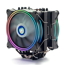 High 4pin <strong>Rgb</strong> Intel And Amd 120mm Case 6 heatpie cpu cooler with double <strong>RGB</strong> Cooling Pwm Fan
