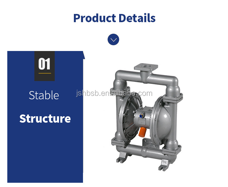 Aluminum High Pressure Chemical Double Pneumatic Diaphragm Pump For Good Price Sale