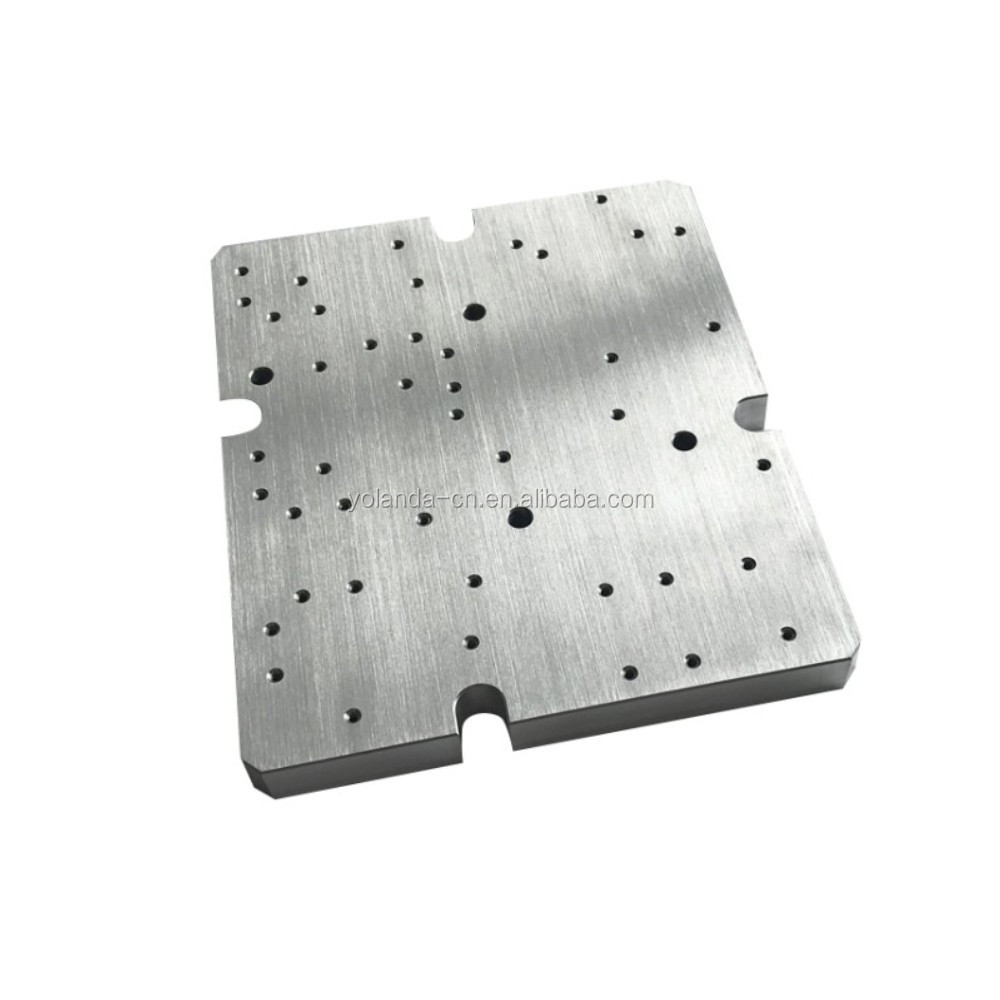 OEM Factory Manufactured Brushing 6061-T6 Aluminum Alloy CNC Machining Milling Drilling Laser Module Baseplate