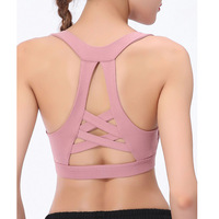 New Arriving gathering Fitness Sexy Beauty Back Yoga Vest-style Sports Bra For Young Teens