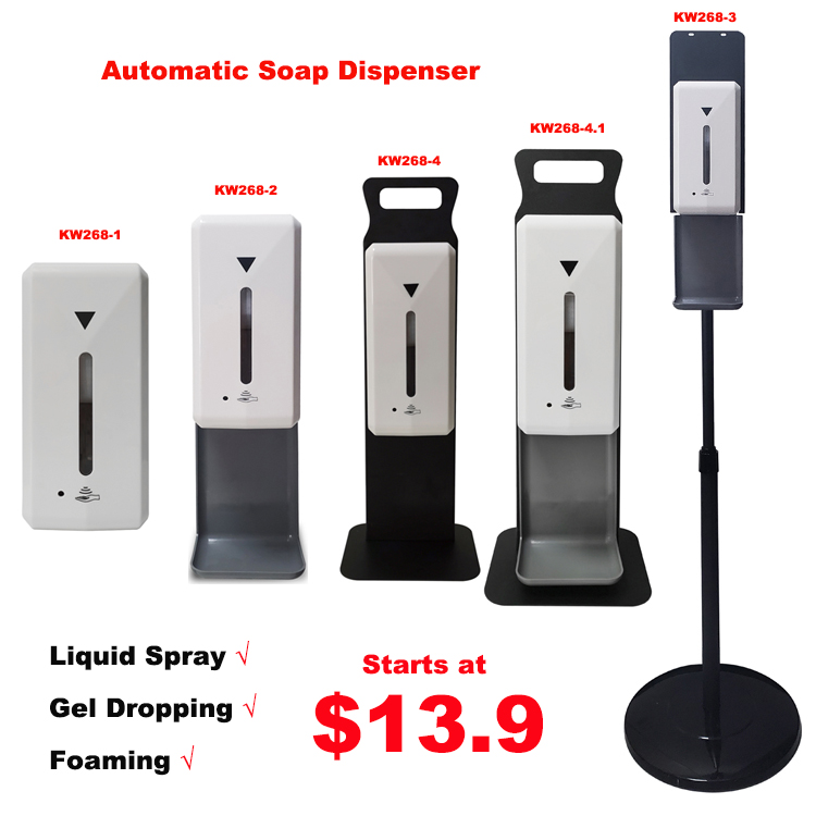 Automatic hand sanitizer dispenser floor stand