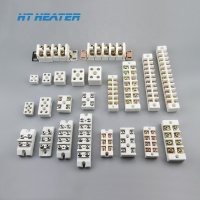 15A 25A 30A 50A 2 way Ceramic terminal block /porcelain connector/2 pole ceramic connecting terminals