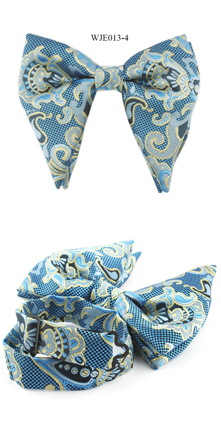 Fashion Mens Microfiber Woven Butterfly Bowtie Paisley Floral Bow Ties