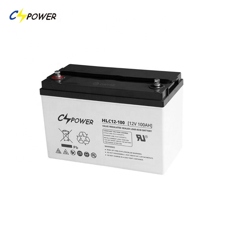 CSPOWER Solar 12 Volt <strong>110</strong> Ah AGM Lead Carbon Batteries Deep Cycle Solar Battery For Energy Storage Systems