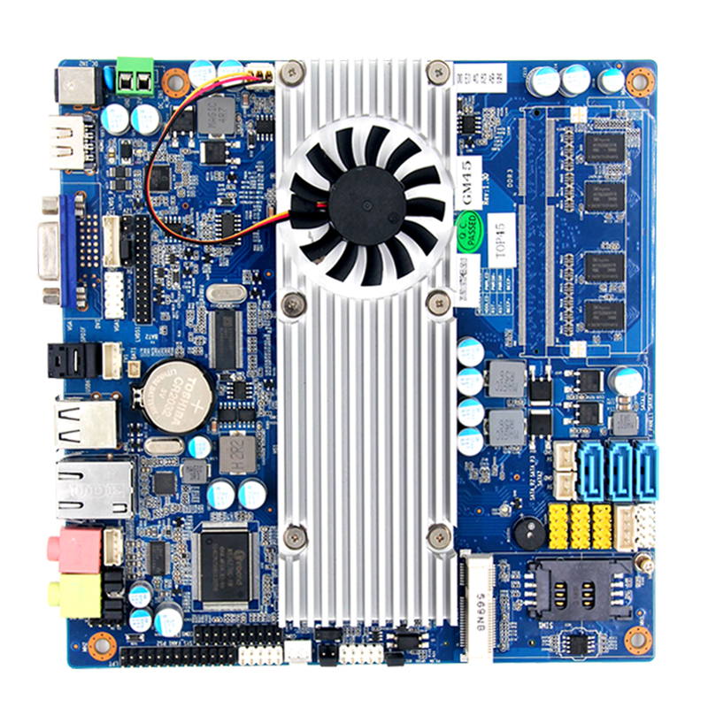 low consumption <strong>c</strong> power Intel GM45 GMA Integrated X4500MHD mini itx nuc motherboard support AV Output