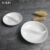 Chaozhou good quality buffet dinner plate white dessert ceramic divided dish